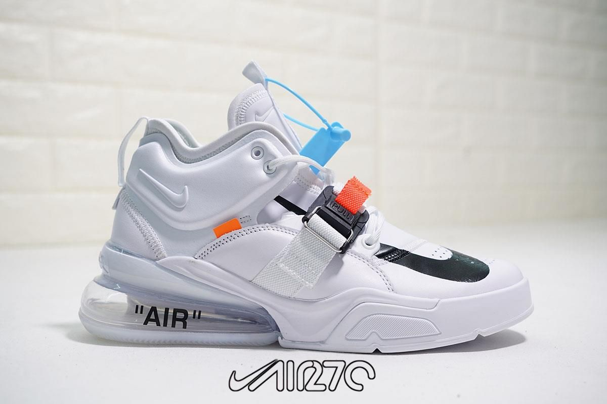 08deb3aa95 Nike's Air Force 270 adds another colorway to its selection.The model's  newest option is dipped in white as leather, mesh and synthetic materials  coat the ...