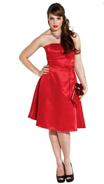 Cheap plus size prom dresses in red under 50$ for junior ...