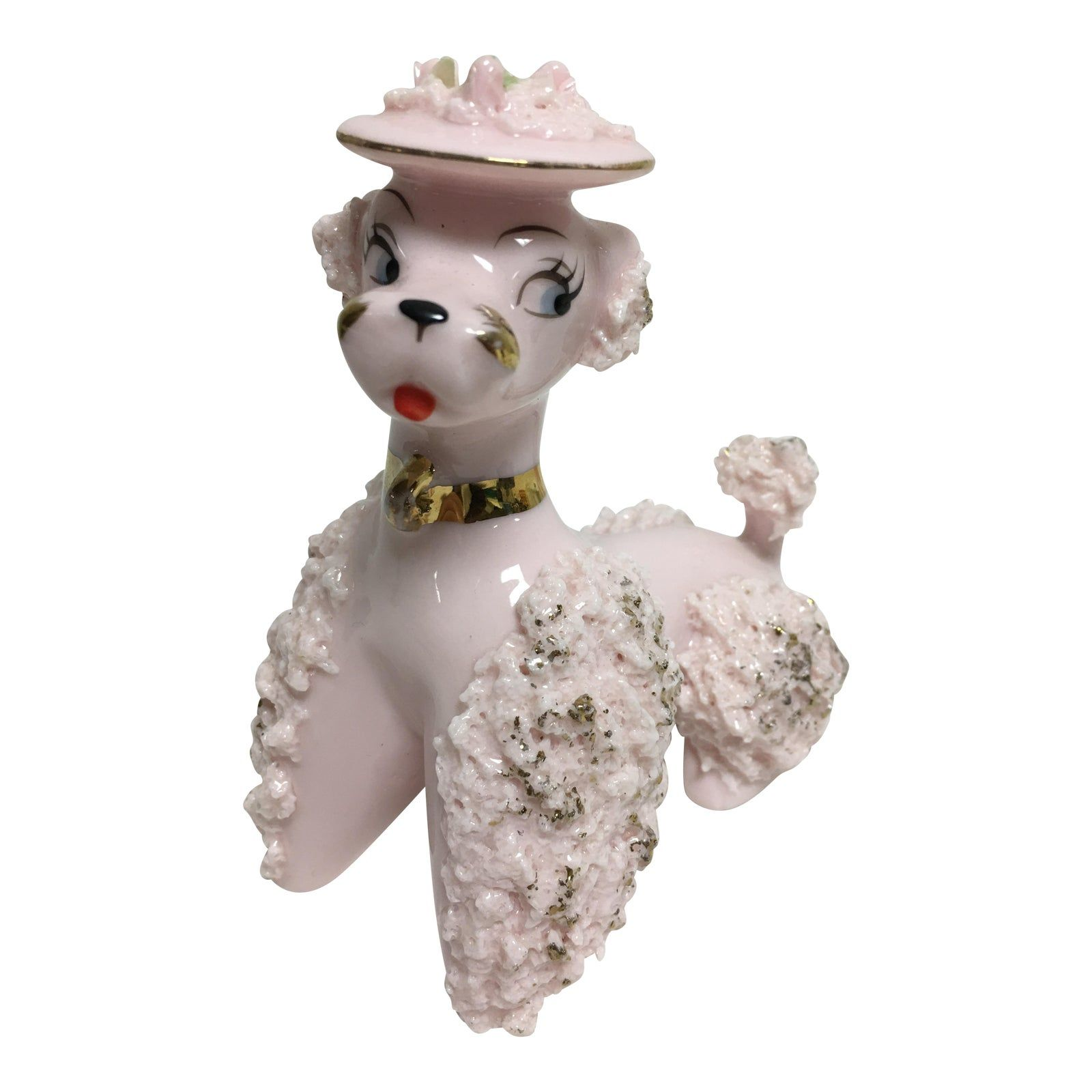 Vintage Pretty Pink Poodle, 1950s | Chairish