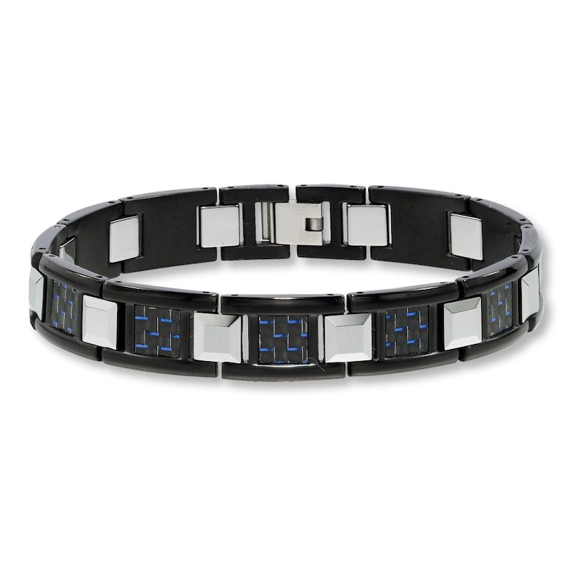 Mens bracelet tungsten carbide stainless steelkay