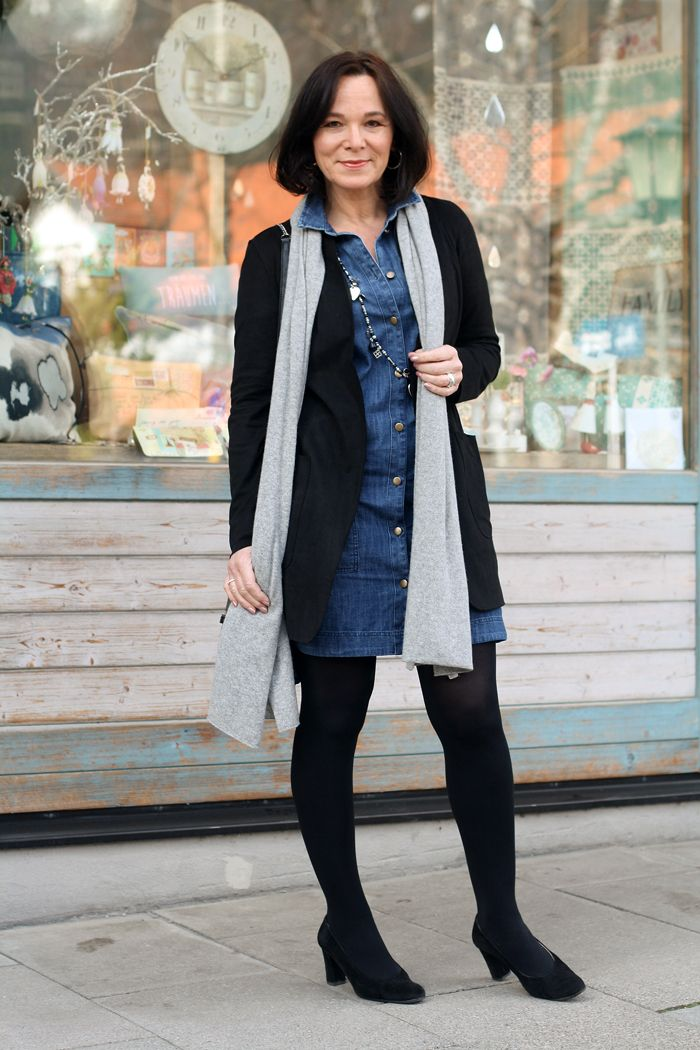 Jeanskleid stylen winter