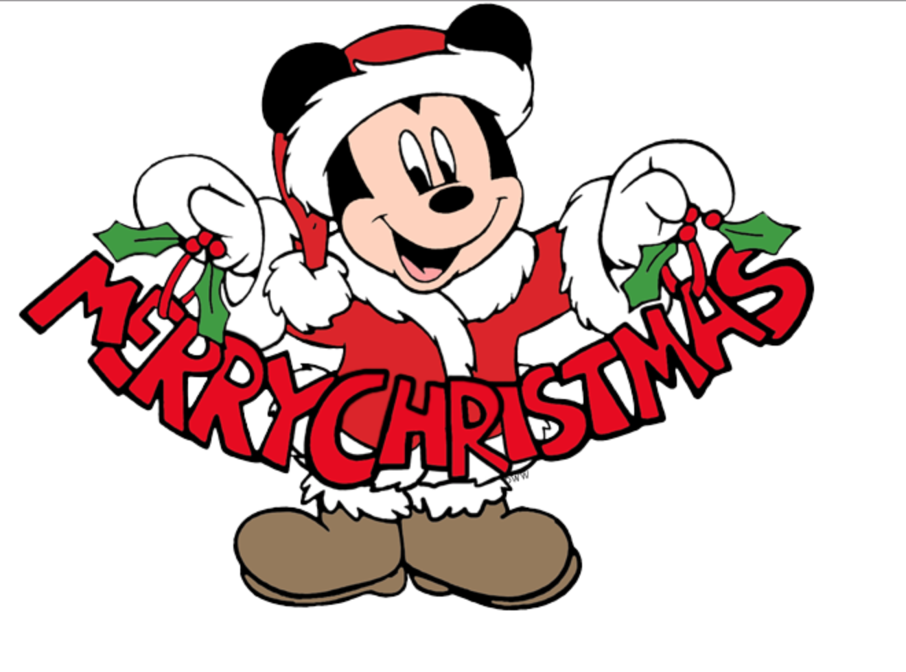 Mickey Mouse wishes a Merry Christmas Disney merry