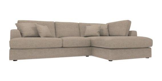 Buy Stratus II Large Chaise End Corner - Right Hand (4 Seats) Soft Marl Dark Mink | Next