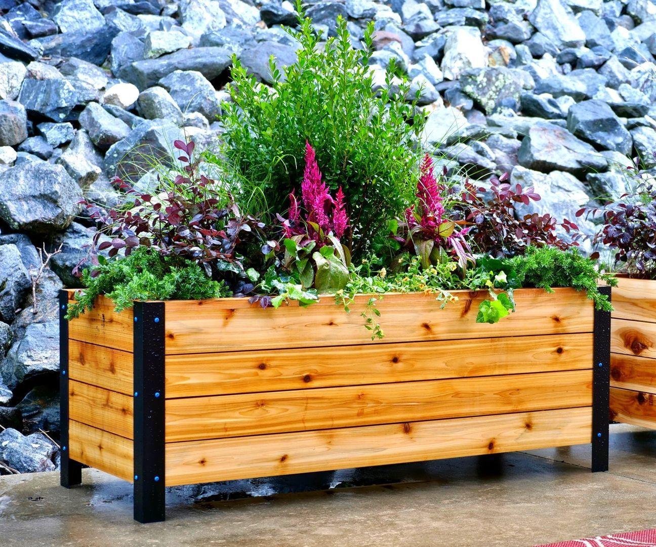DIY Modern Raised Planter Box // How to Build