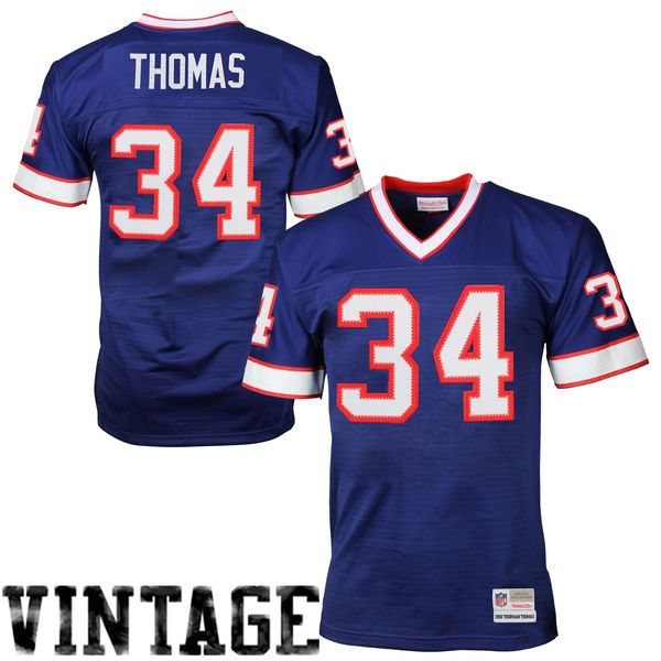 Thurman Thomas Buffalo Bills Mitchell   Ness Retired Player Vintage Replica  Jersey - Royal Blue 96c7151d5