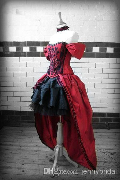 562241eaa79 Wholesale Wedding Dresses - Buy Victorian Dresses 2014 Steampunk Wedding  Dress GothicTaffeta Lolita Inspired Vampire in Black Cotton Wedding Gowns  2014 ...