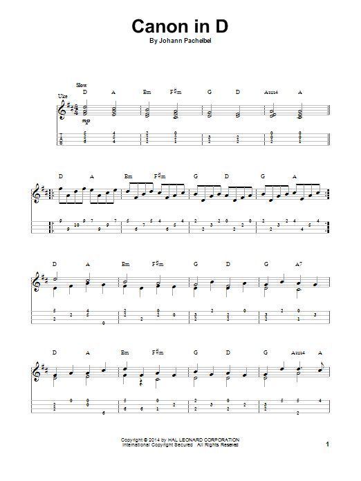 Canon In D Sheet Music Ukulele Pinterest Sheet Music Johann