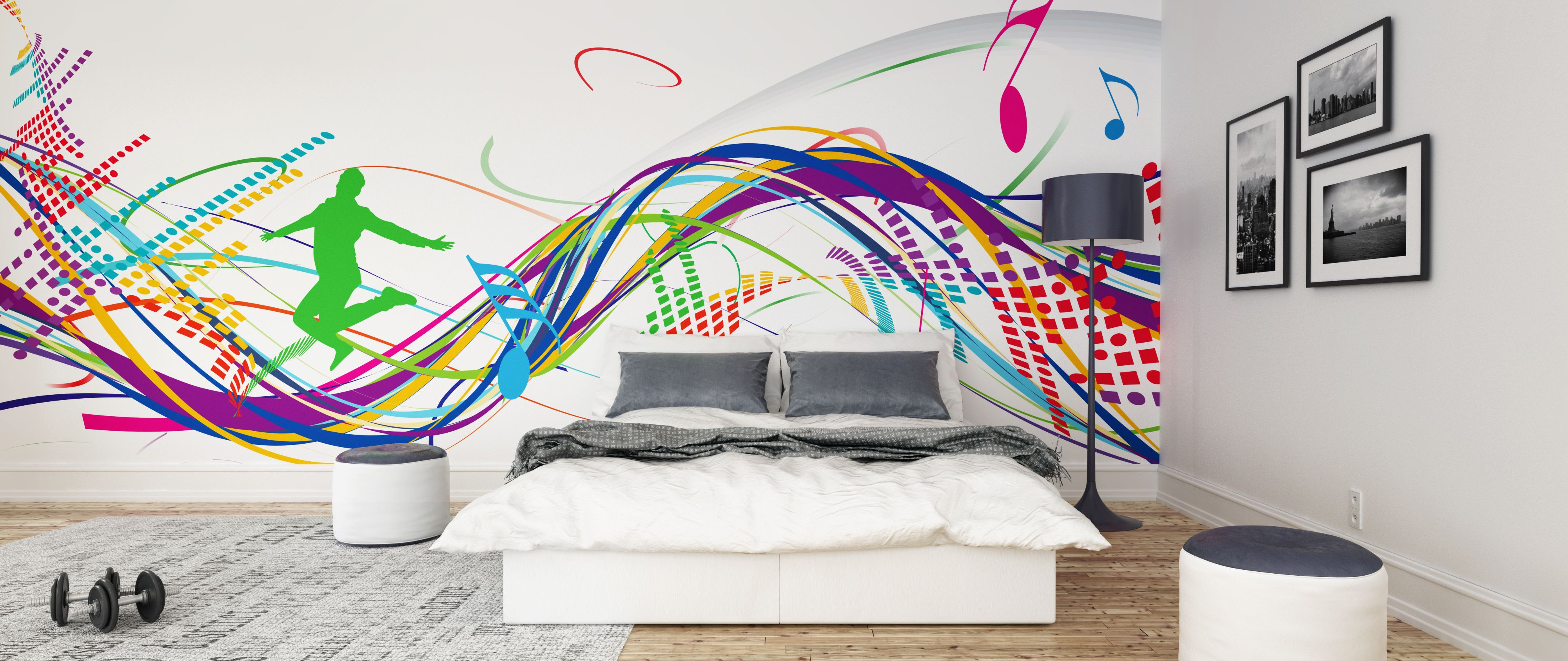 Colorful Musical Notes Wall Mural Photo Wallpaper GIANT DECOR Paper Poster