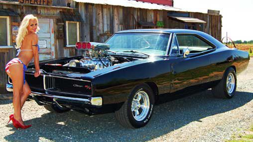 hot girls charger Dodge