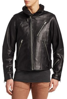 new high factory authentic crazy price G-Star RAW Empral 3D Leather Biker Jacket