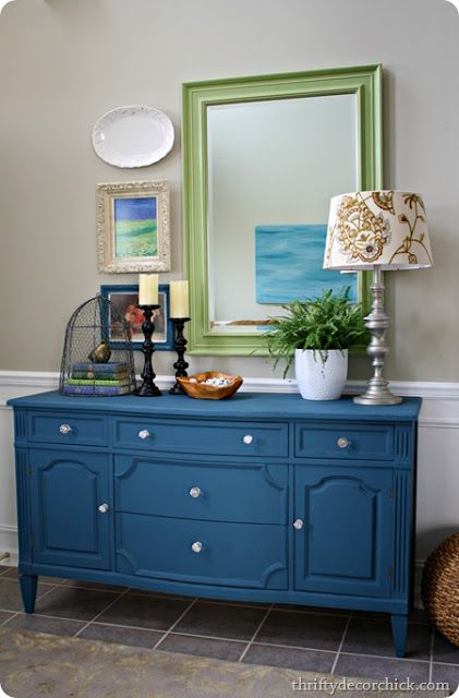 I like the idea of colored furniture if I can't paint the walls