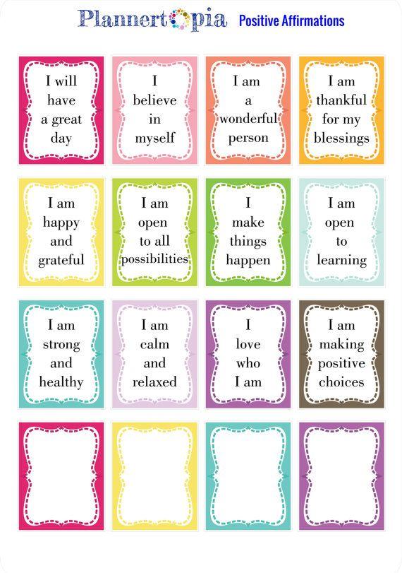 affirmation sticker journal sticker self love sticker planner sticker positive sticker decals quote foiled sticker laptop sticker