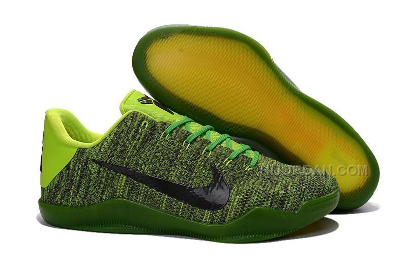 Big Discount  66 OFF Nike Kobe 11 GreenBlackVolt Basketball Shoes