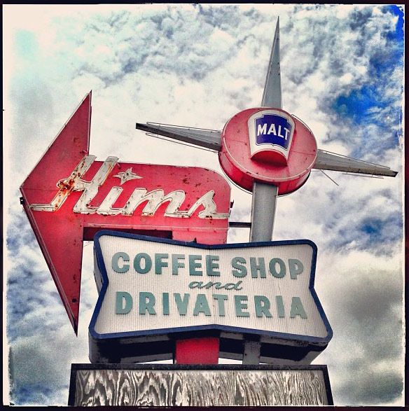 .Vintage coffee shop sign