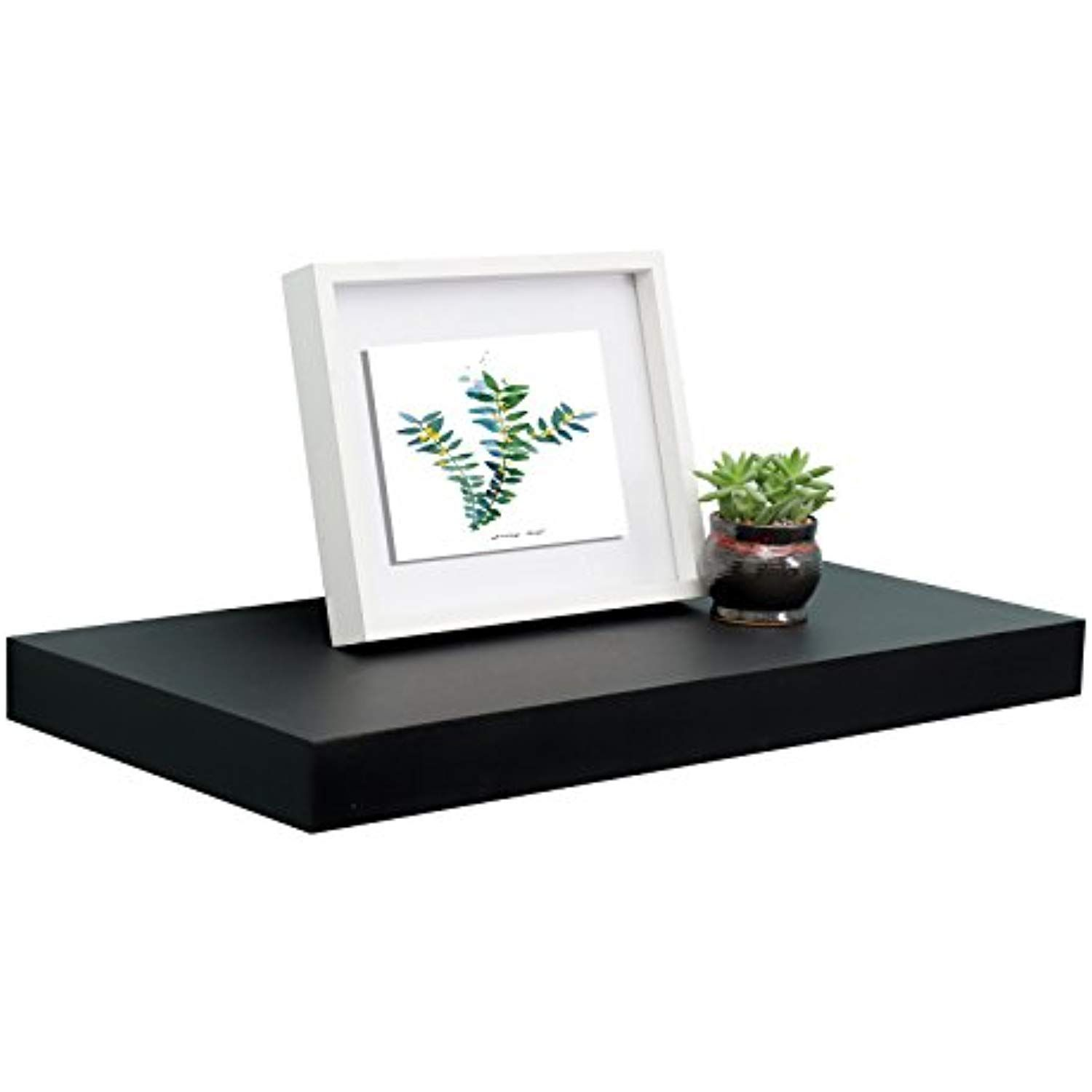 Welland 12 Depth Floating Wall Shelf Black Floating Shelf Display Floating Shelf 24 L X 12 D In 2020 Floating Wall Shelves Black Floating Shelves Floating Shelves