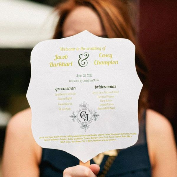 Creative Wedding Program Ideas - Sample Wedding Programs | Wedding ...