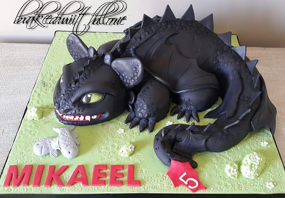 How To Train Your Dragon Cake Dětsk 233 Dorty Motivtorten