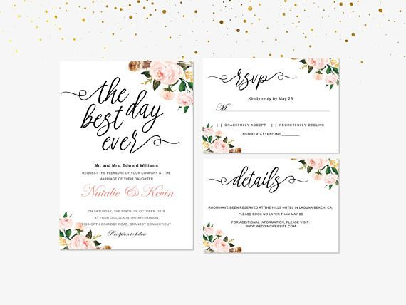 Pin by LinDIY Invitations on DIY Microsoft Word Template - microsoft word templates invitations