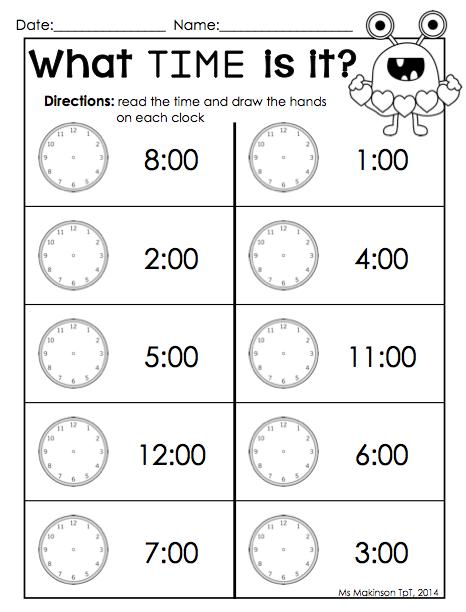 time clock for kindergarten - Google Search | Kindergarten ...