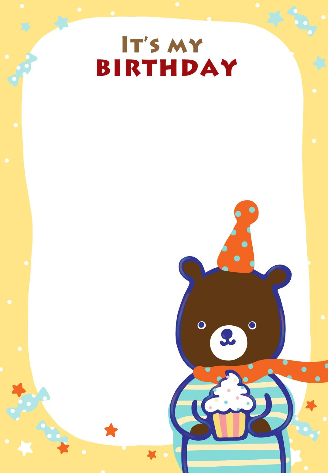 Free Printable Birthday Teddy Bear Invitation