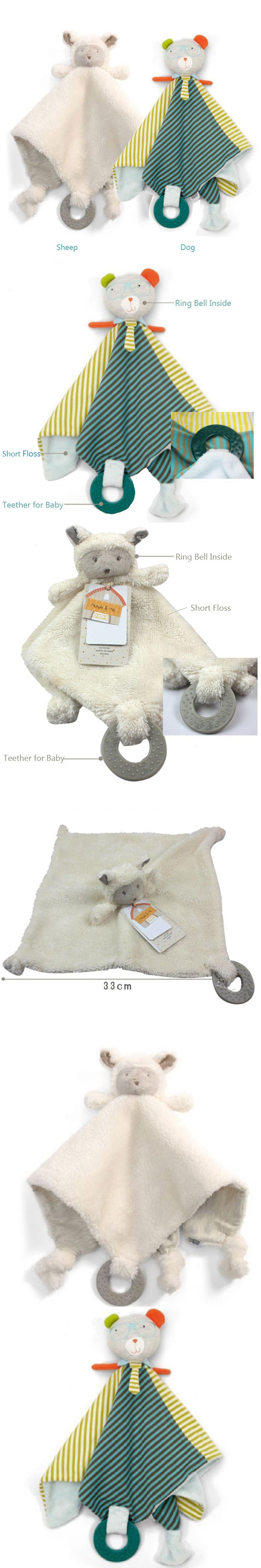 Baby toys images cartoon  New pc Baby Calm Toy Cute Cartoon Animal Soft Plush Handkerchief