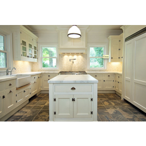 kitchens - creamy white kitchen cabinets kitchen island calcutta
