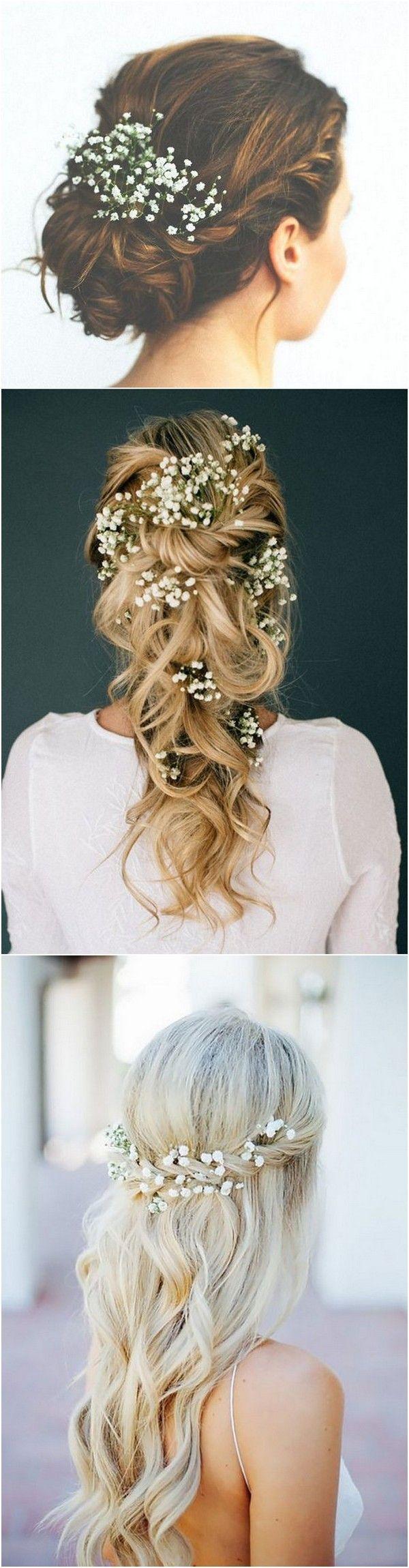 Wedding hairstyles with babyus breath hair styles pinterest