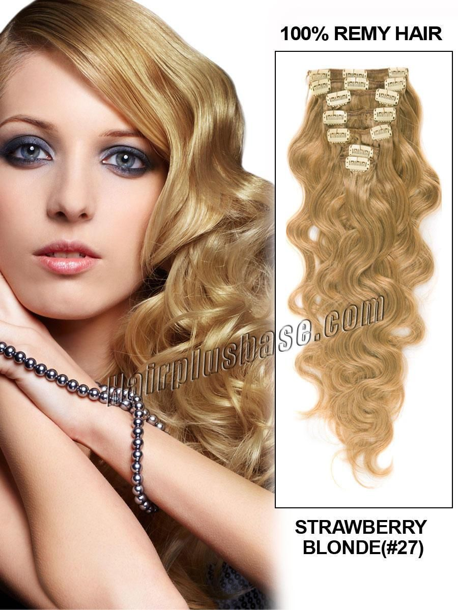 inch outstanding strawberry blonde clip in indian remy hair