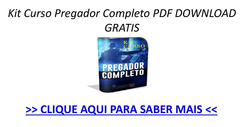 Kit Curso Pregador Completo Pdf Gratis Download Pptx Com Imagens