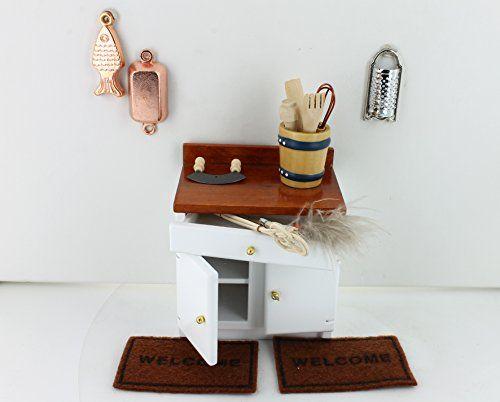Küchentisch mit 1 Schublade, Küchengeräte und Türmatten P   - küchentisch mit schublade