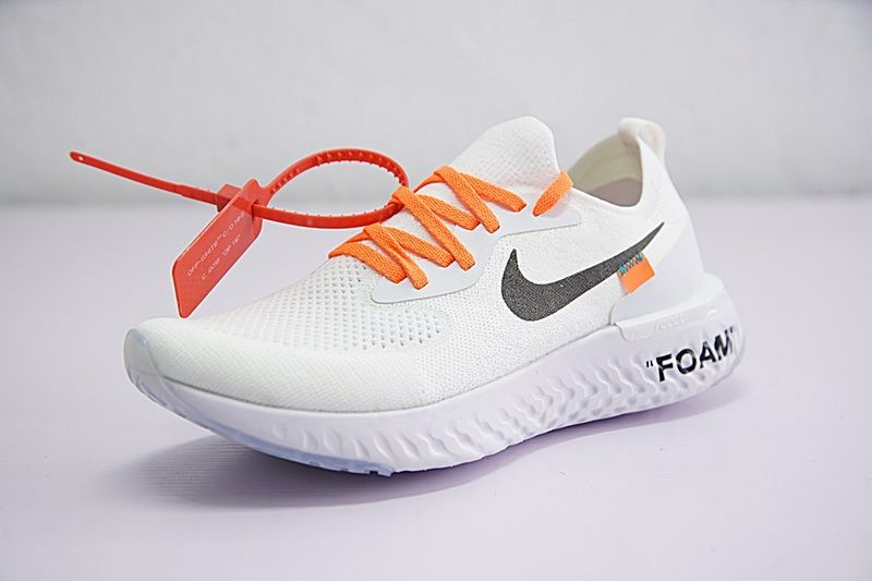 3735362e7805 Purchase Popular Hot Off white x Nike Epic React Flyknit