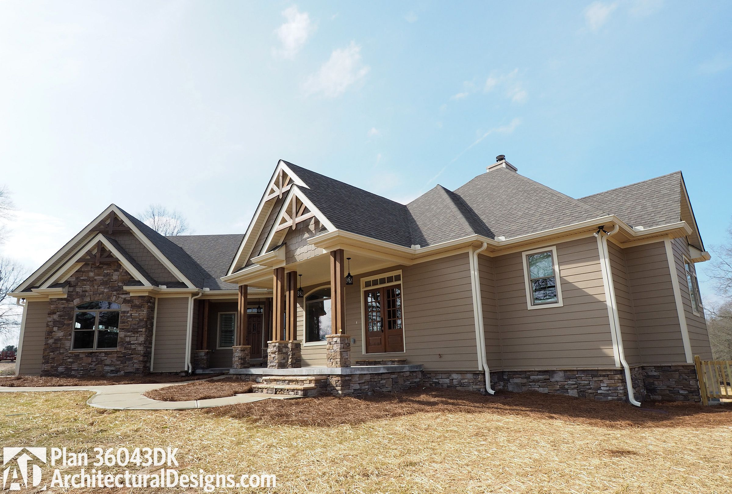 Plan 36043dk angled craftsman home plan with outdoor - Do you need a degree to be an interior designer ...