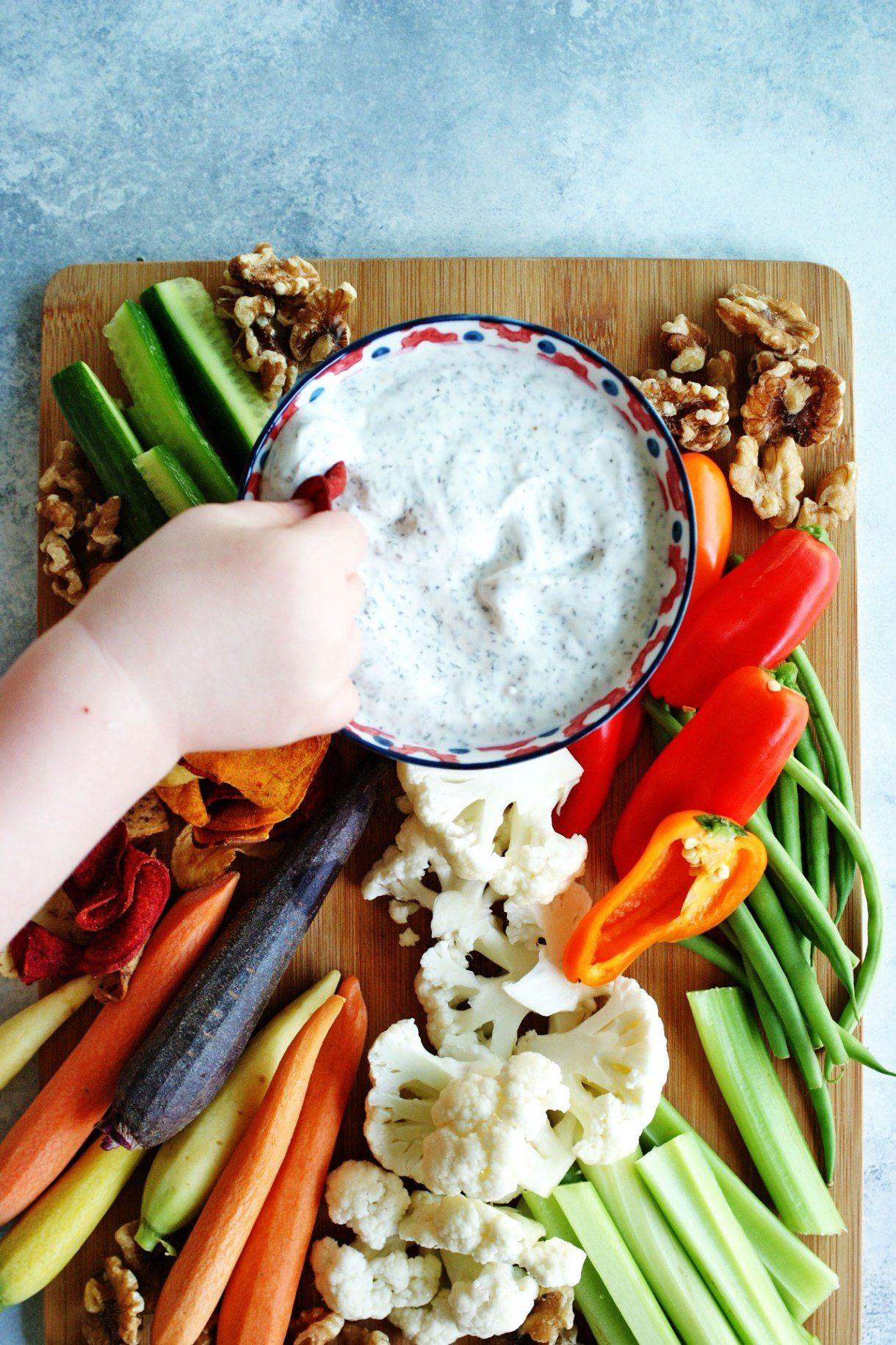 5 Ingredient Greek Yogurt Veggie Dip Recipe Healthy