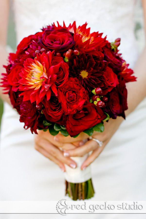 my red dahlia bouquet florist daffodilparker madison