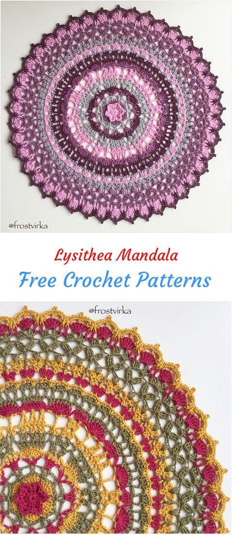 Lysithea Mandala Free Crochet Pattern #crochet #crafts #yarn ...