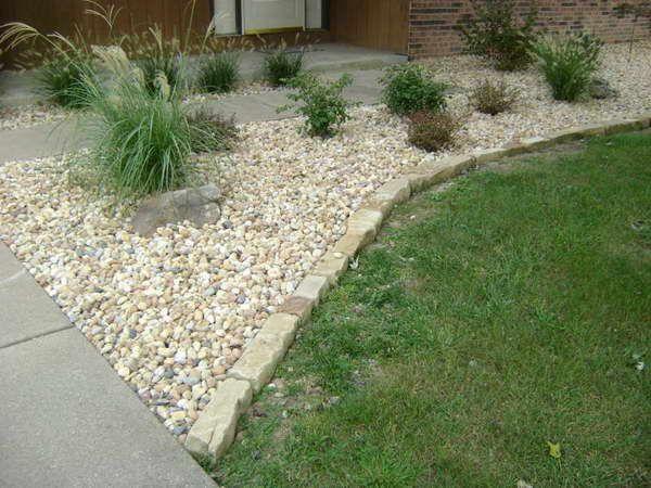 Landscaping With Gravel Stone Edging Stones backyard Pinterest