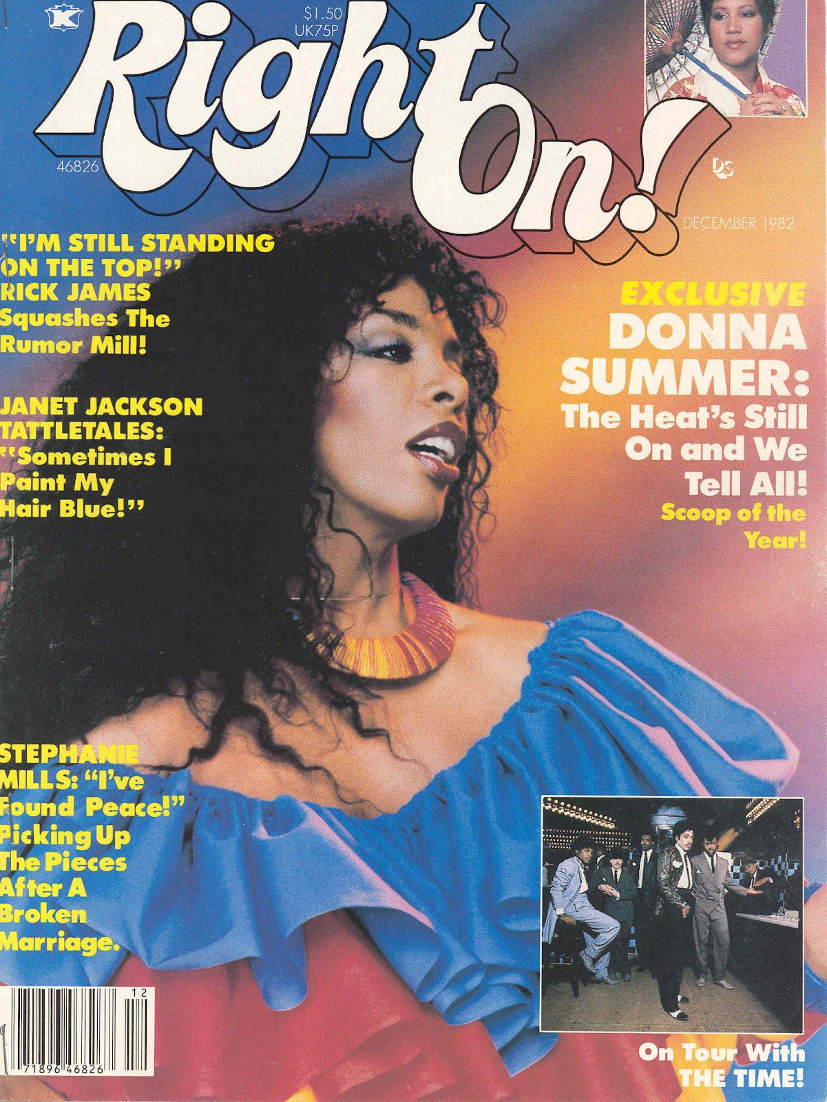 Right On! magazine, December 1982 — Donna Summer Donna
