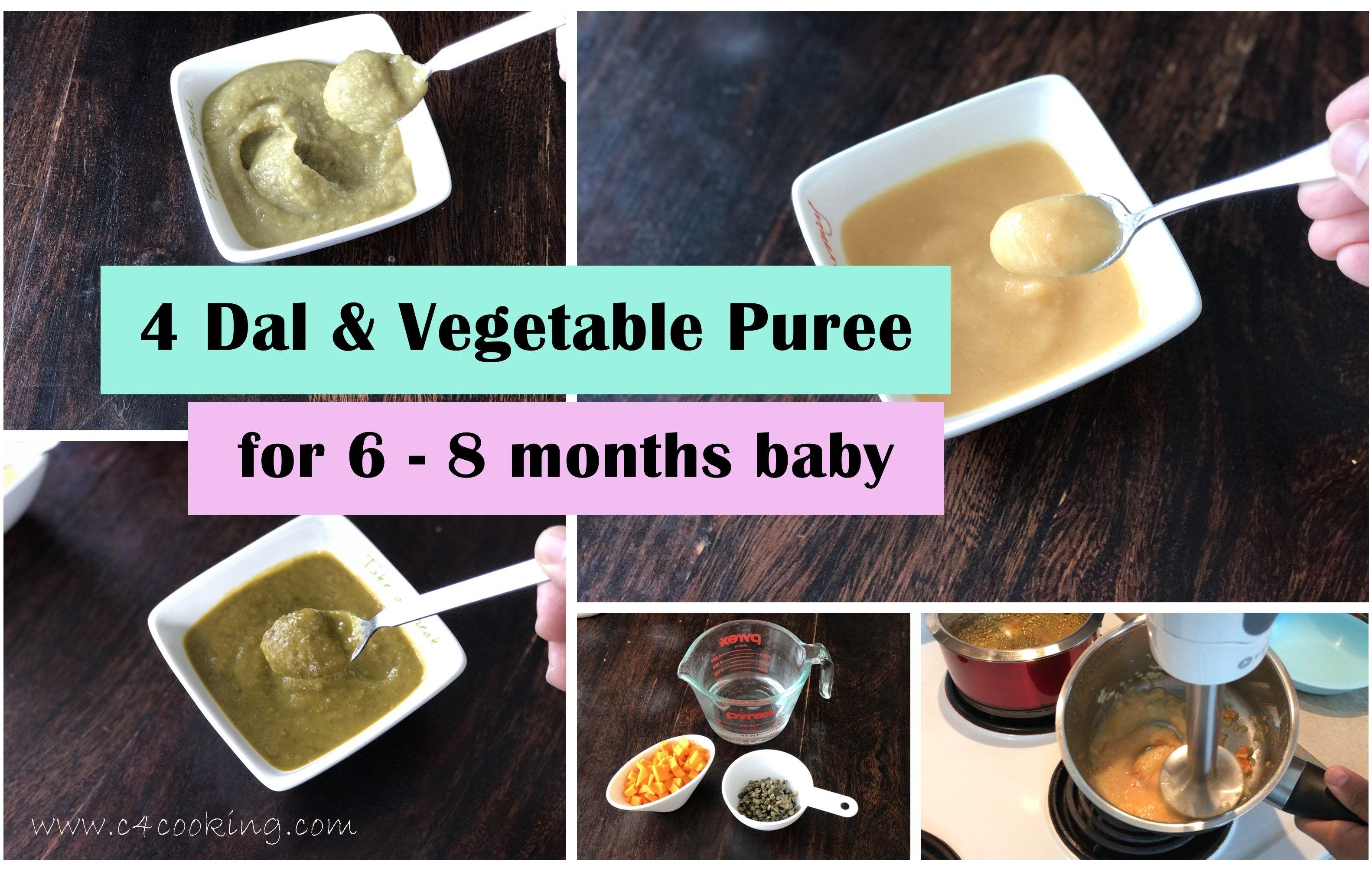 4 Dal Lentil Amp Vegetable Puree For 6 8 Months