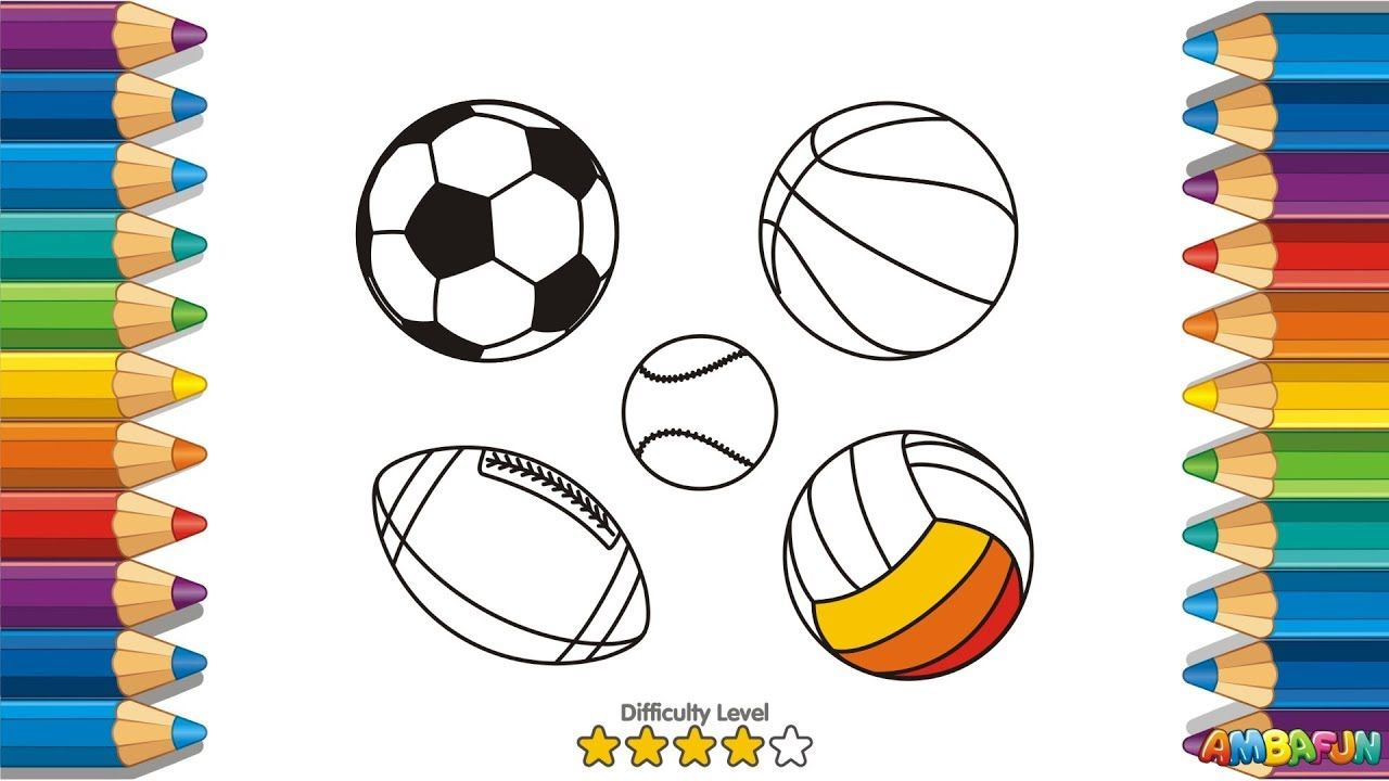 How To Draw A Sport Balls Art For Kids Drawing Volleyball Basketball Art For Kids Play Doh For Kids Drawing For Kids