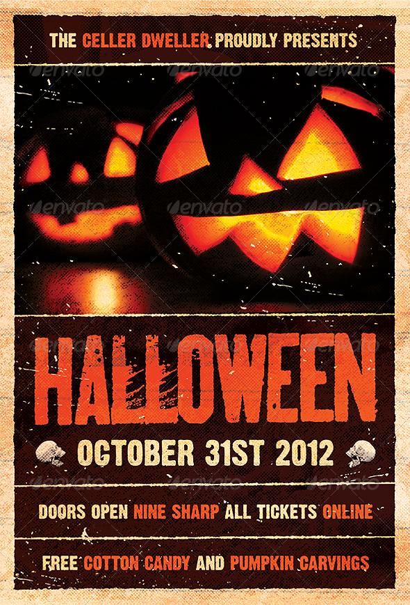 pumpkin head halloween flyer template graphic design pinterest