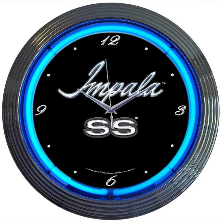 Impala Muscle Car Neon Clock