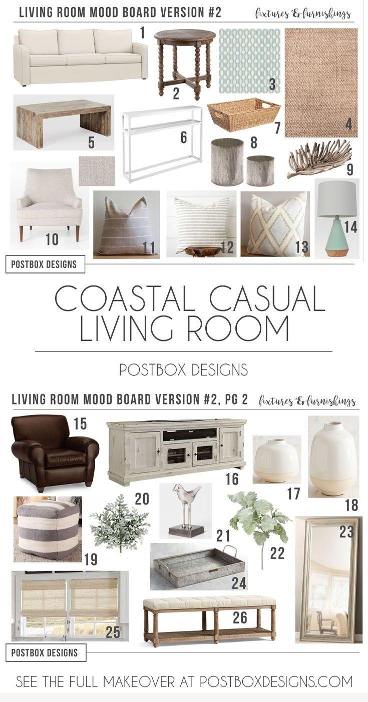 Postbox Designs Coastal Cottage Living Room Makeover Neutral Design Via Online Interior