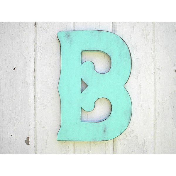 Shabby Chic Wooden Letter B 12 Inches Patina Wedding Decor Handmade Decorative Sign Wall Hanging 25 Found Letter Wall Art Handmade Decorations Word Art Sign