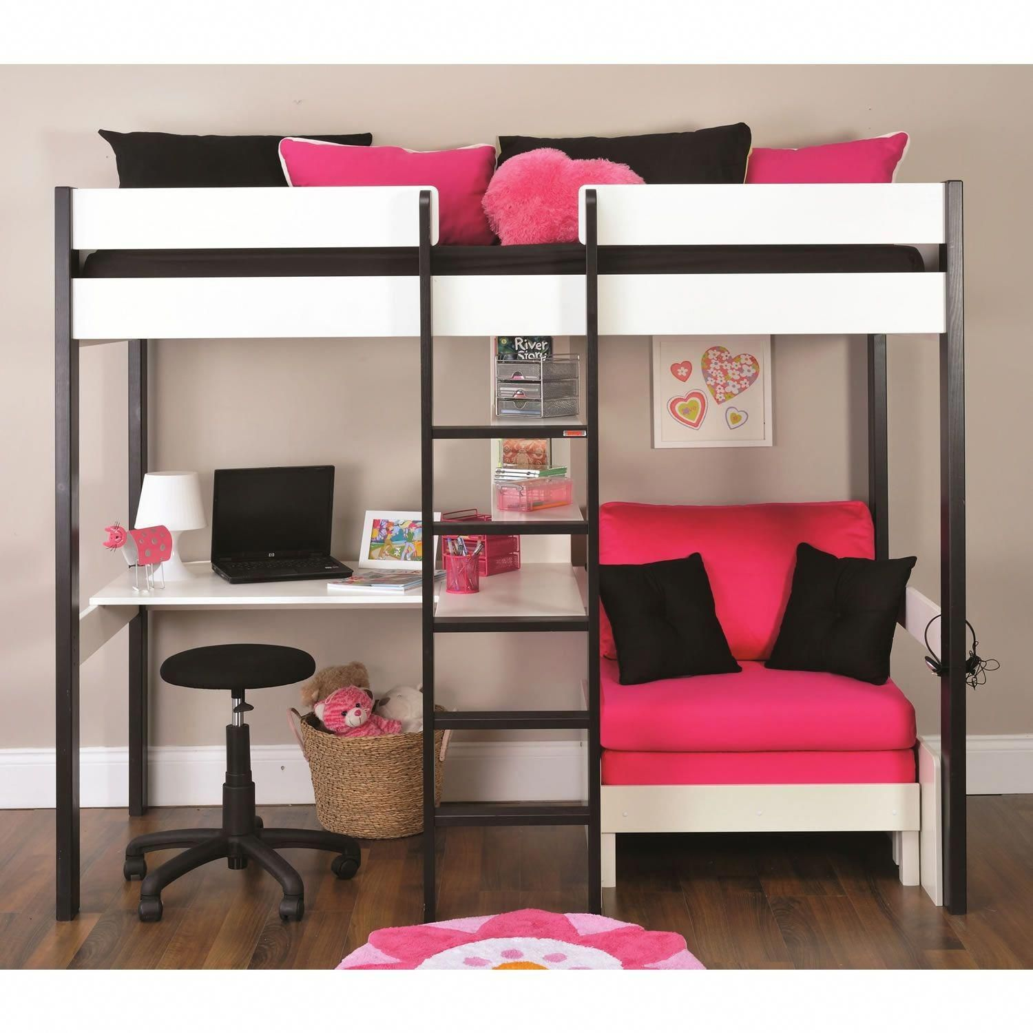 Pottery barn loft bed with desk  bunkbedswithdesks  Bunk Beds with Desks  Pinterest  Bed Bunk bed