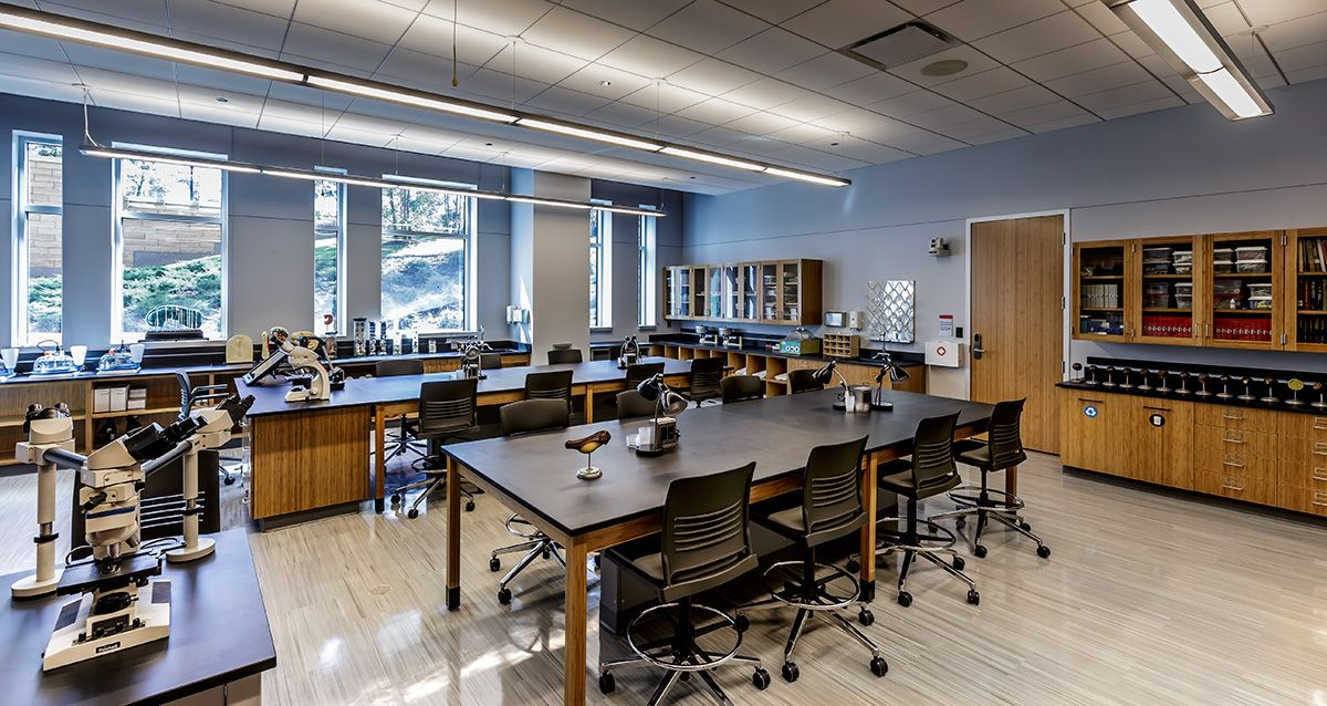 Interior Design North Park University Microbiology Lab