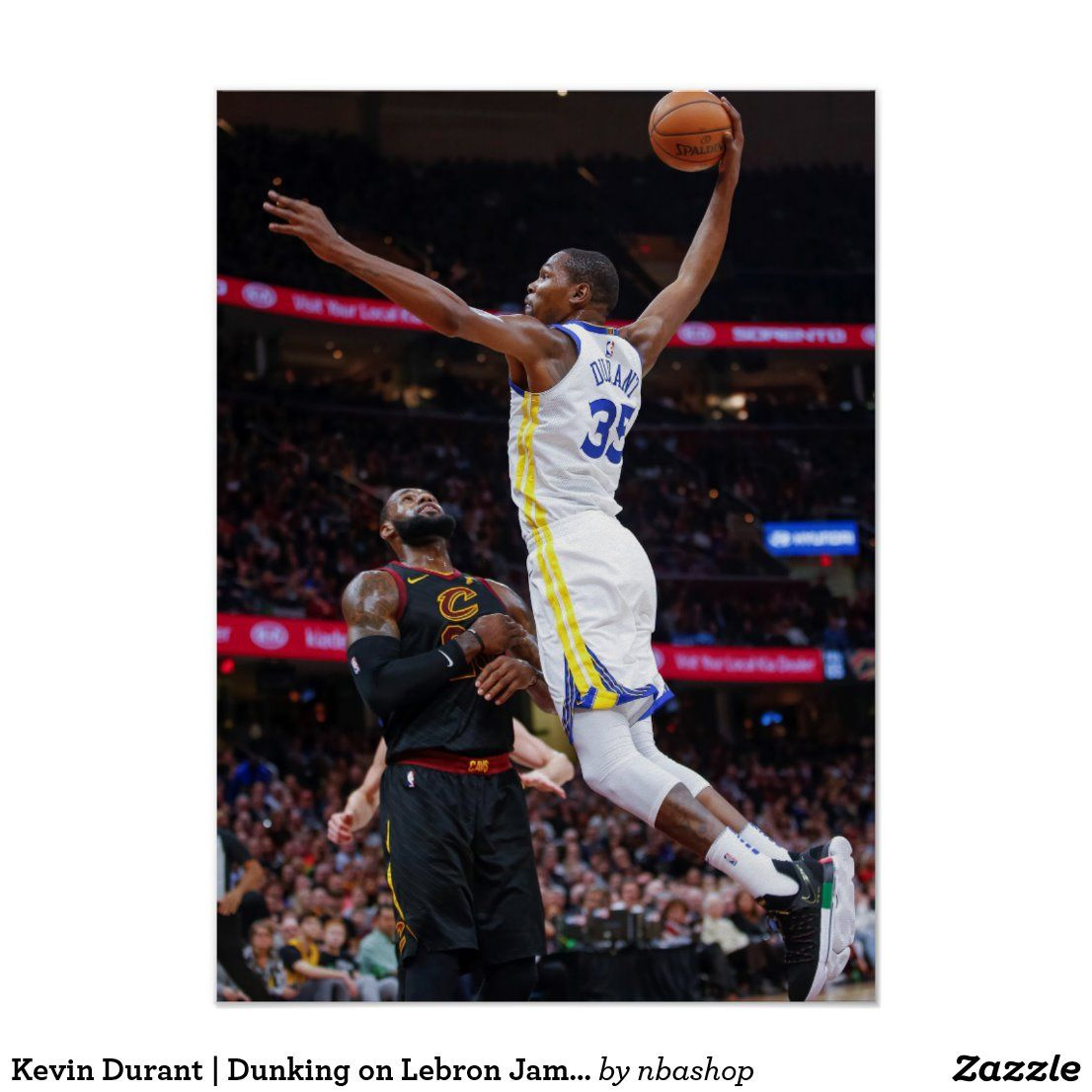 Kevin Durant Dunking On Lebron James Print Zazzle Com Lebron James Kevin Durant Fashion Teenage