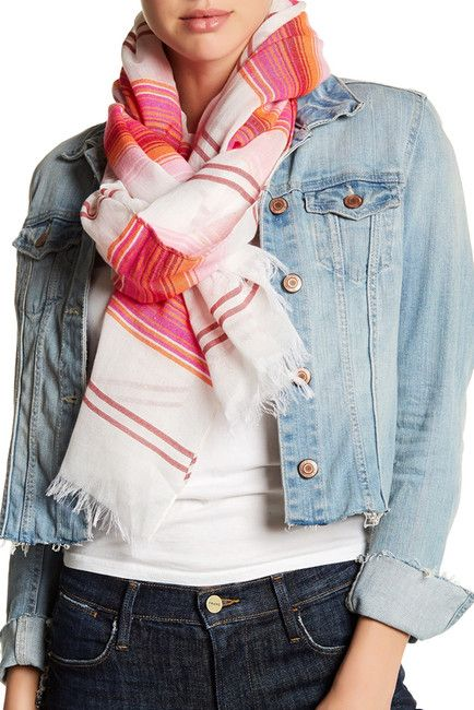 Image of 14th & Union Pop Color Stripe Scarf, Get Gifts Up