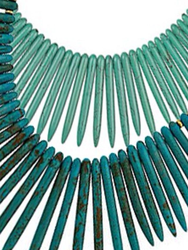 Teal/aqua necklace
