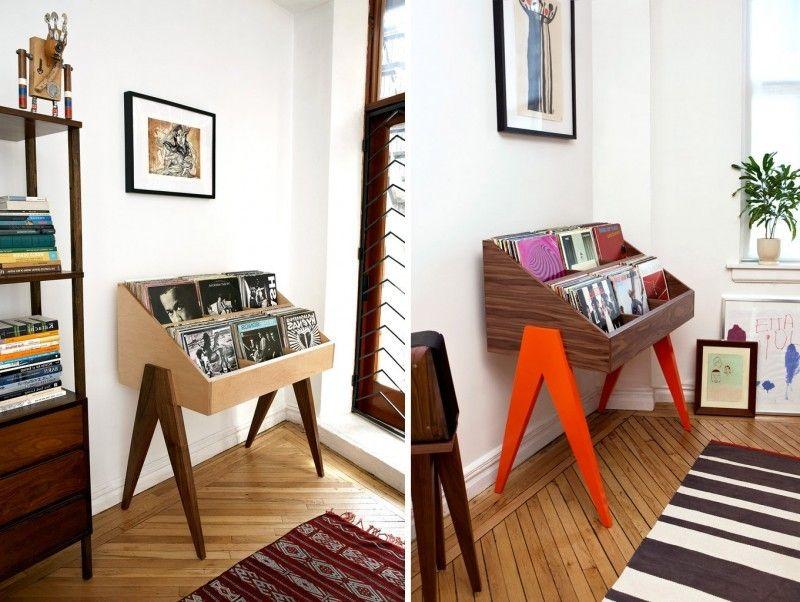 40 meubles pour ranger des vinyles vinyl mobilier de salon rangement et vinyle - Meuble rangement pour disque vinyle ...