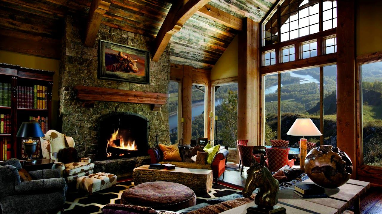 HD Fireplace Background Scene, Relax Cosy living room